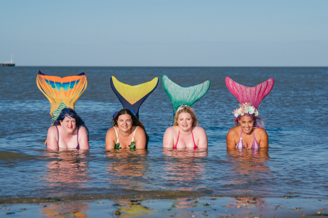 body positive mermaids by Photography by Grace Hill | carlawatkinsphotography.com